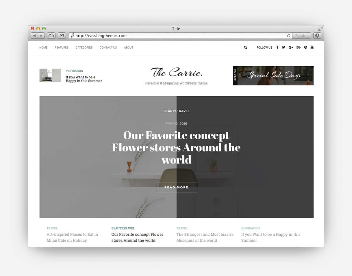 the ultimate collection of the top minimalist wordpress blog themes