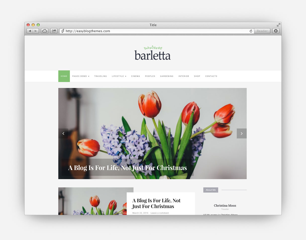 Angilla – A Pretty Simple WordPress Blog Theme