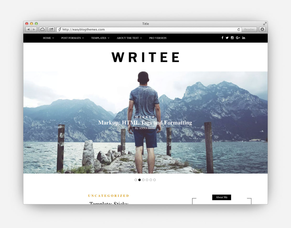 Elegant – Stylish Blog WordPress Theme