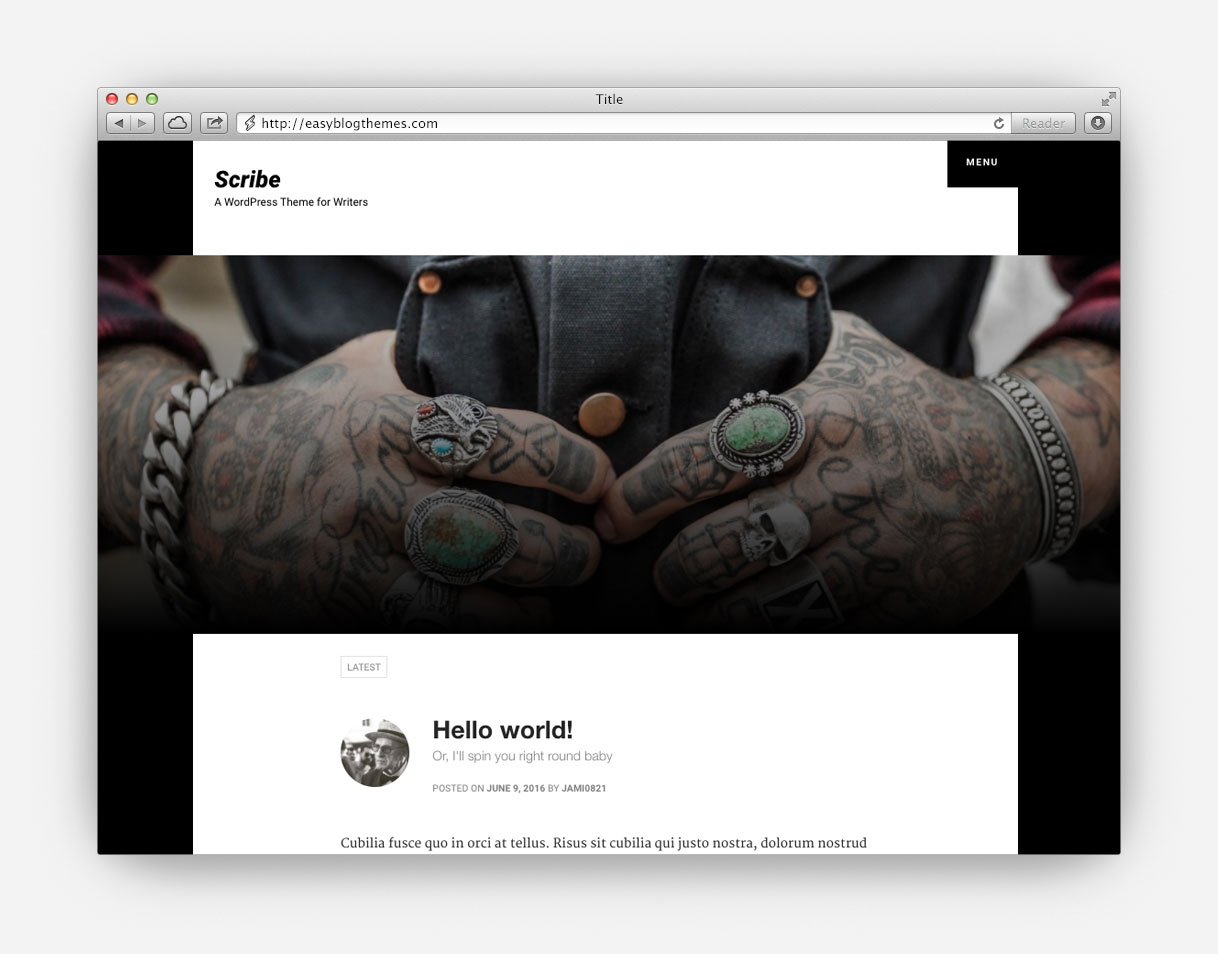 Laurel - WordPress Blog Themes