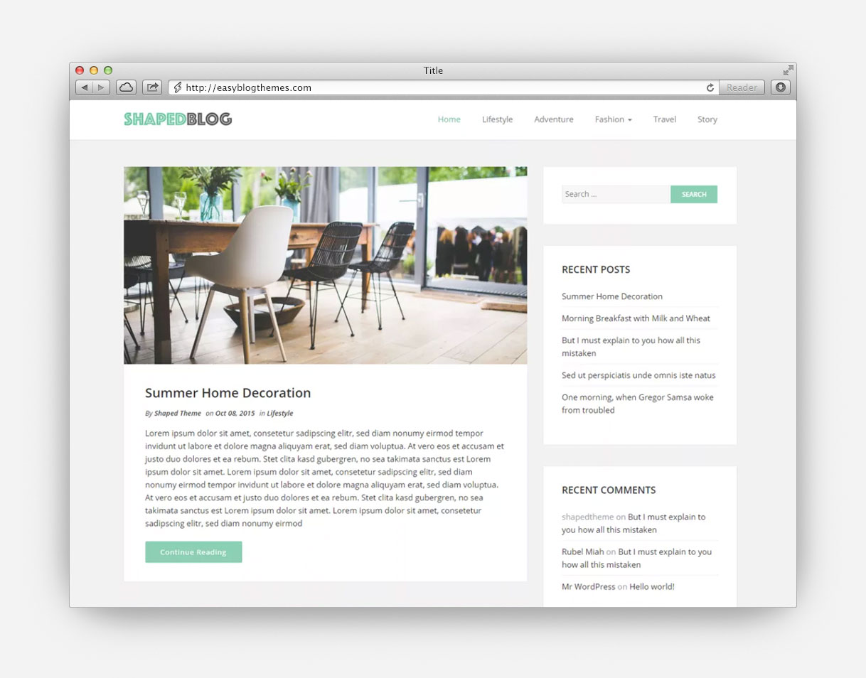 Blog WordPress Themes