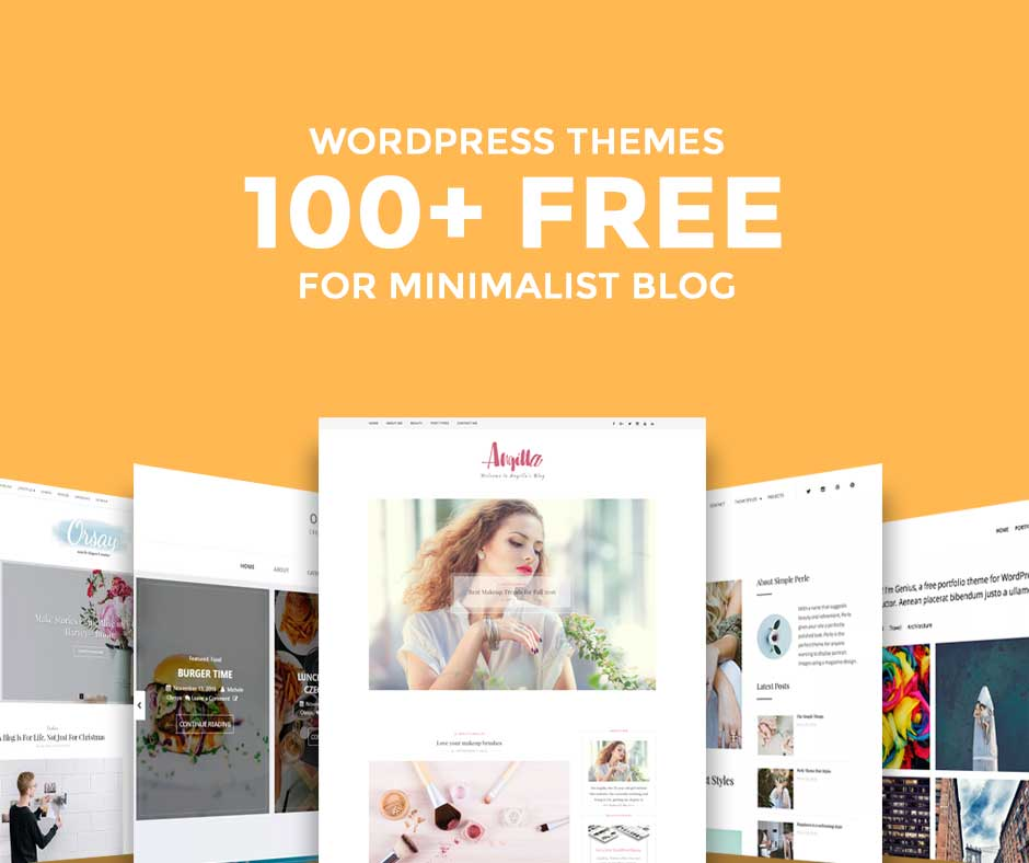 100 stunning free minimalist wordpress blog themes of 2018 for Free blog templates wordpress