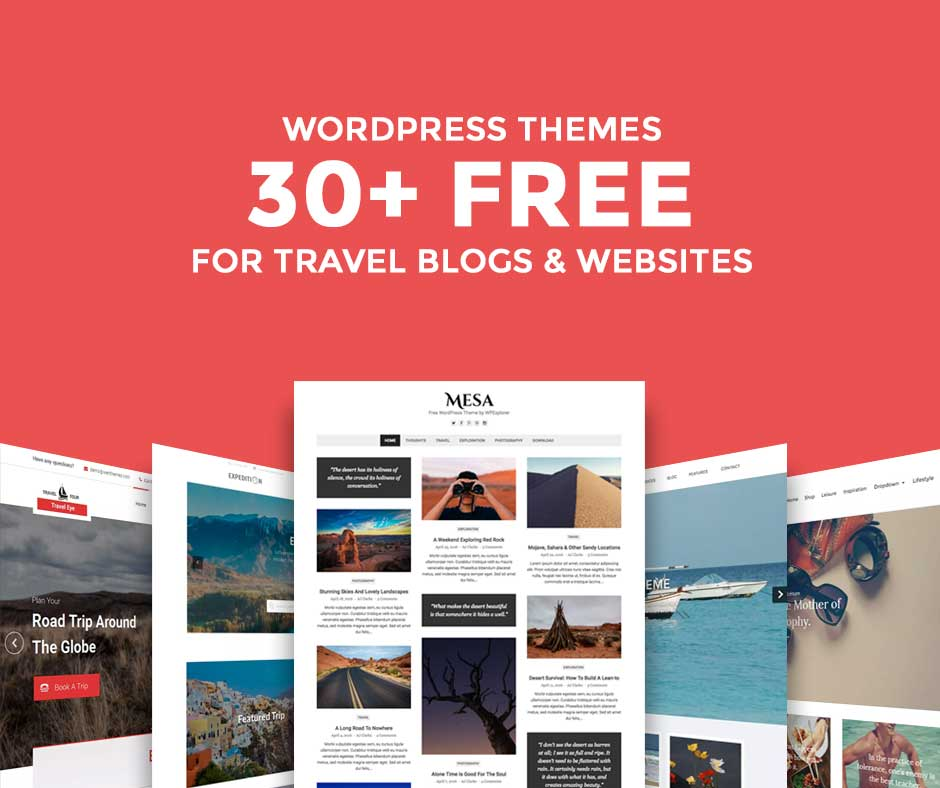 word press blog templates - 30 marvelous free travel wordpress themes for blogs and