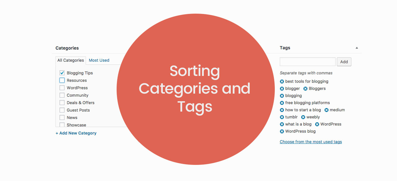 Sorting Categories and Tags