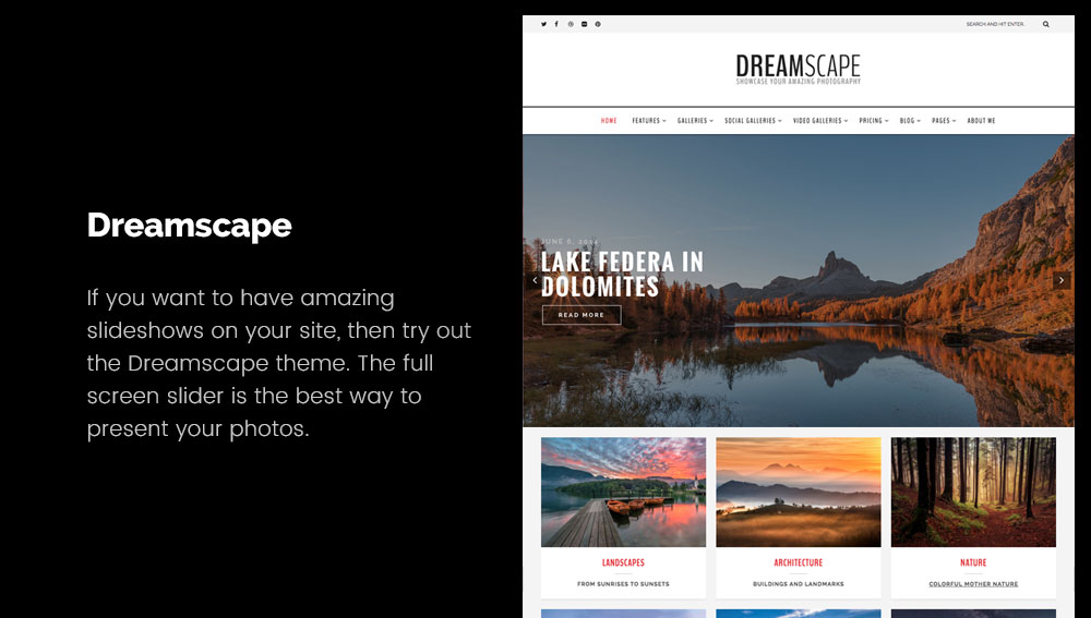 Dreamscape - Best WordPress Blog Themes for Photography and Art