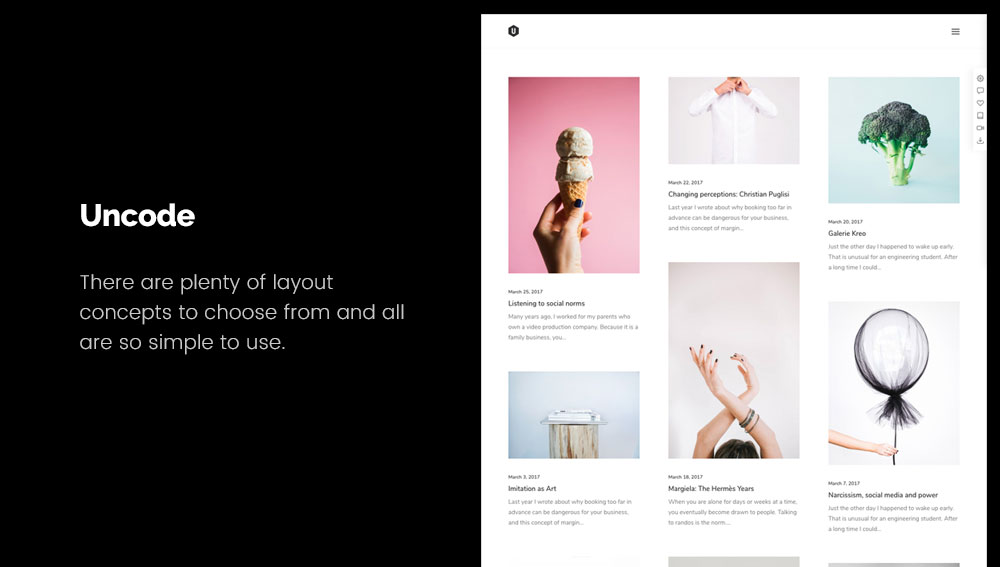 Uncode - Best WordPress Blog Themes for Photography and Art