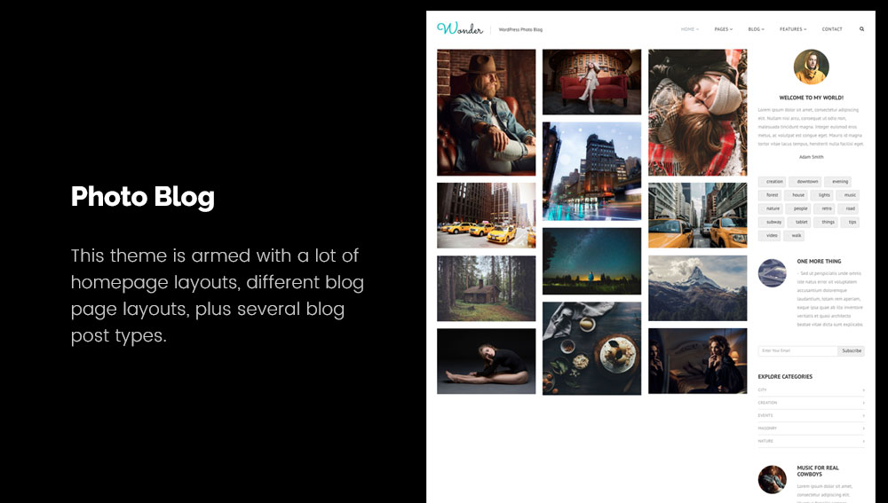 Photo Blog - Best WordPress Blog Themes for Photography and Art