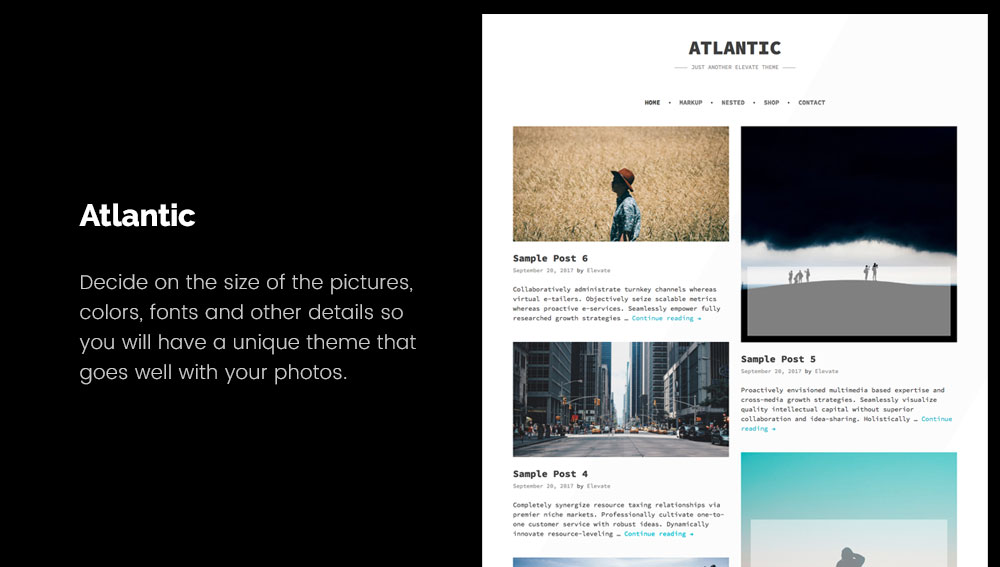 Atlantic - Best WordPress Blog Themes for Photography and Art
