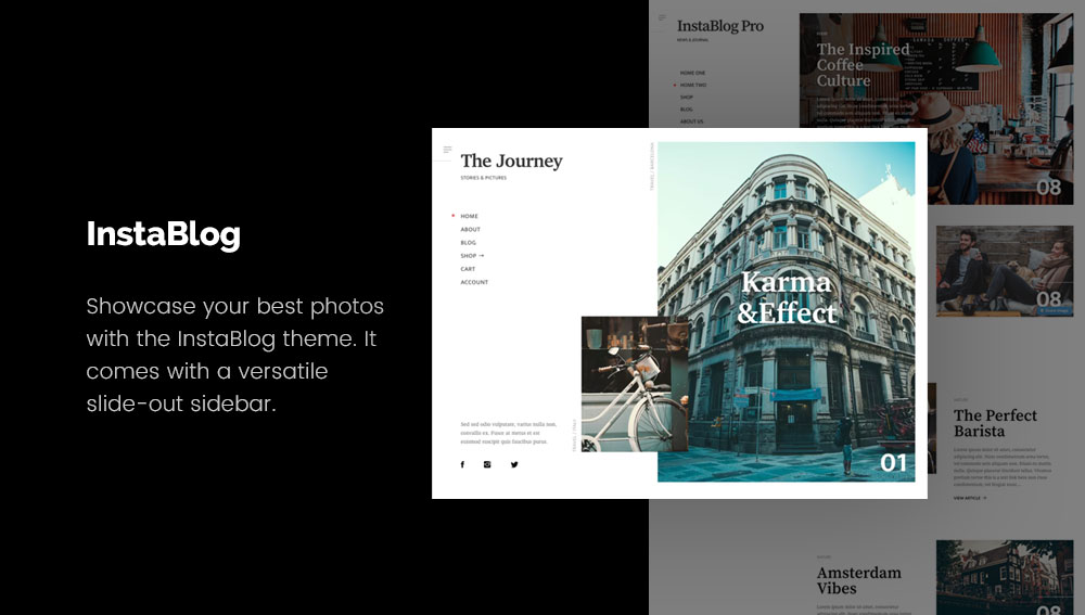 InstaBlog - Best WordPress Blog Themes for Photography and Art