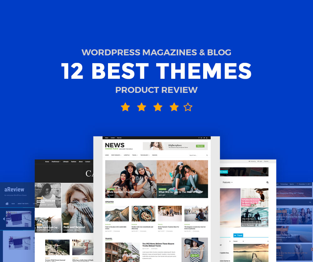 12 best product review wordpress magazine themes and blog for Blogger product review template