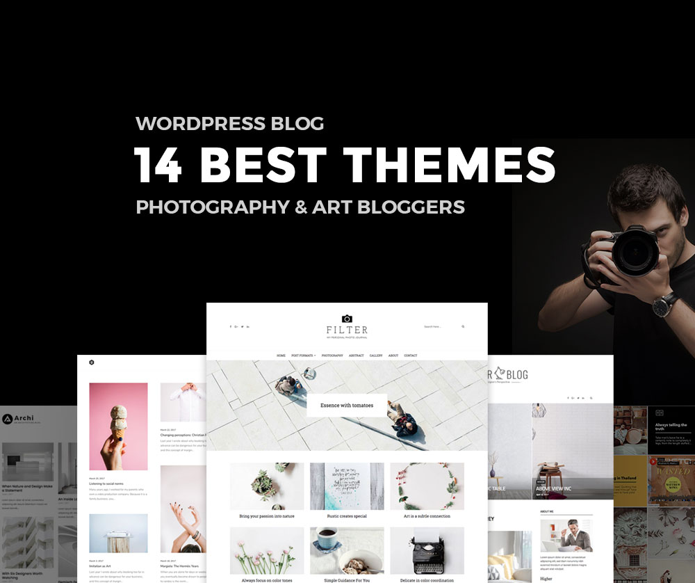 14 best wordpress blog themes for photography and art bloggers for Word press blog templates