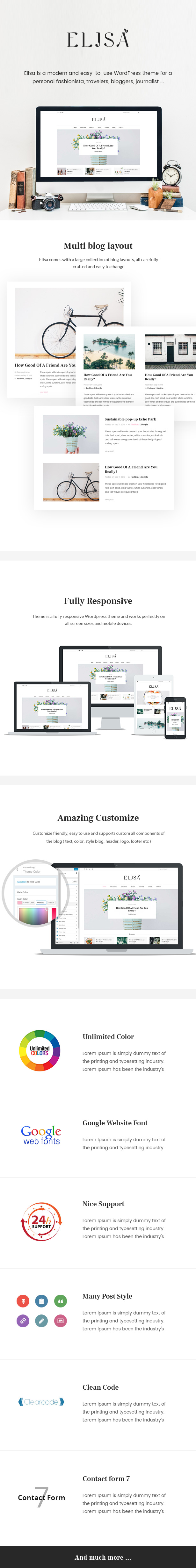 Elisa Minimalist WordPress Theme